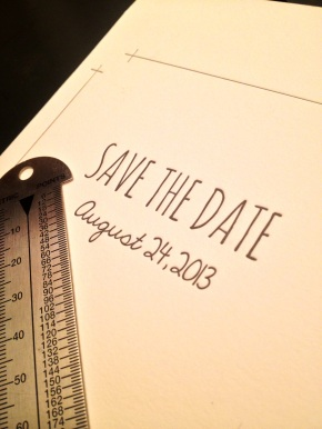 Sneak Peek: Letterpress DIY Tie the Knot Save the Dates