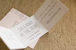 Featured Real Wedding: Cali & Robert Letterpress DIY Tie the Knot Save the Dates